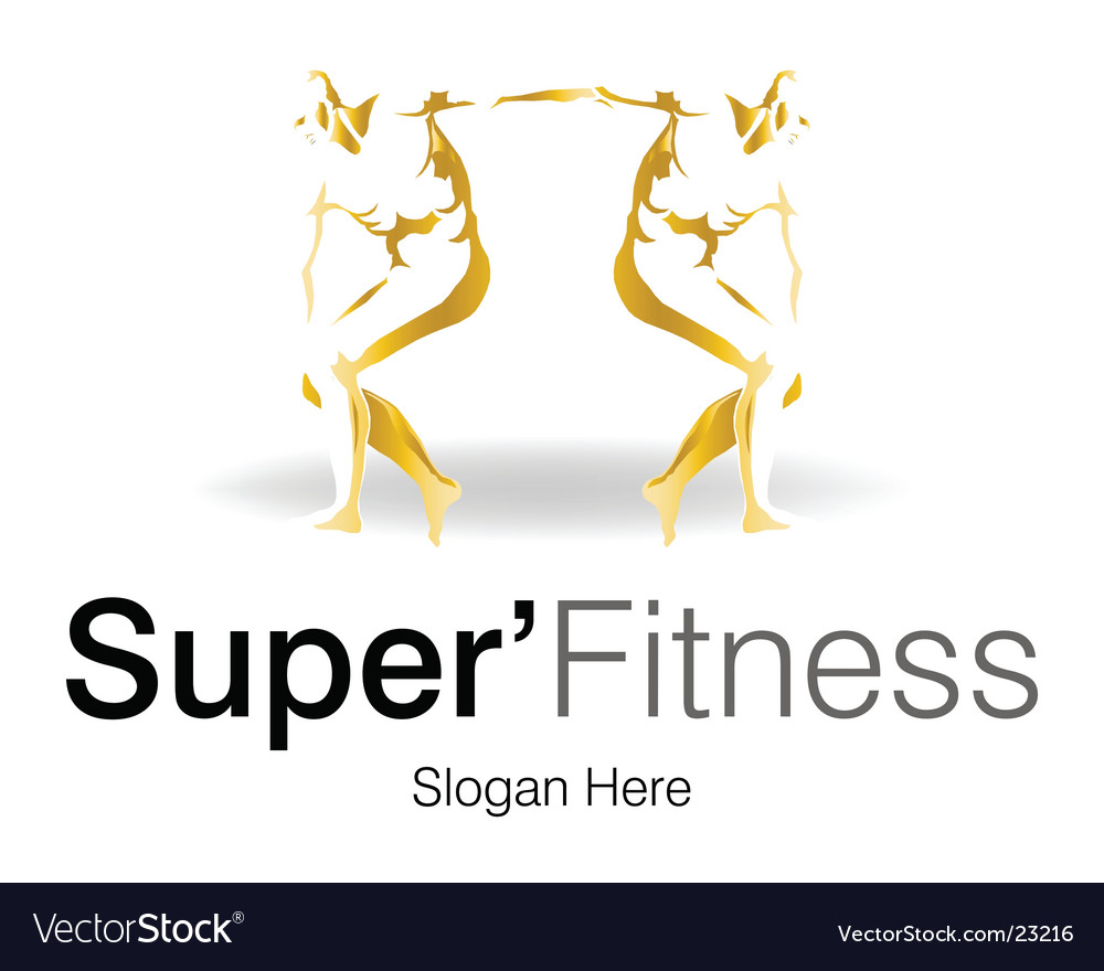 Super fitness logo vector