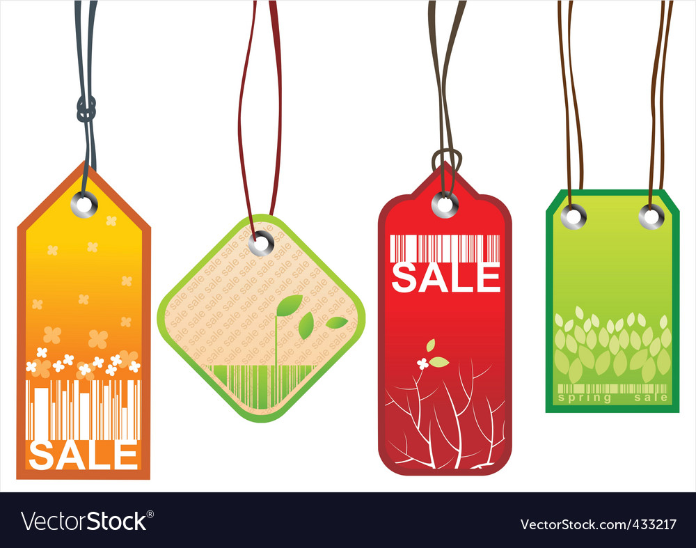 Retail sale tags vector