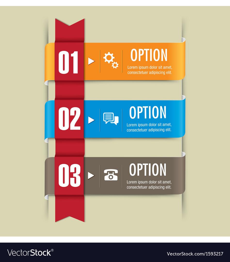 Ribbon set web design elements vector