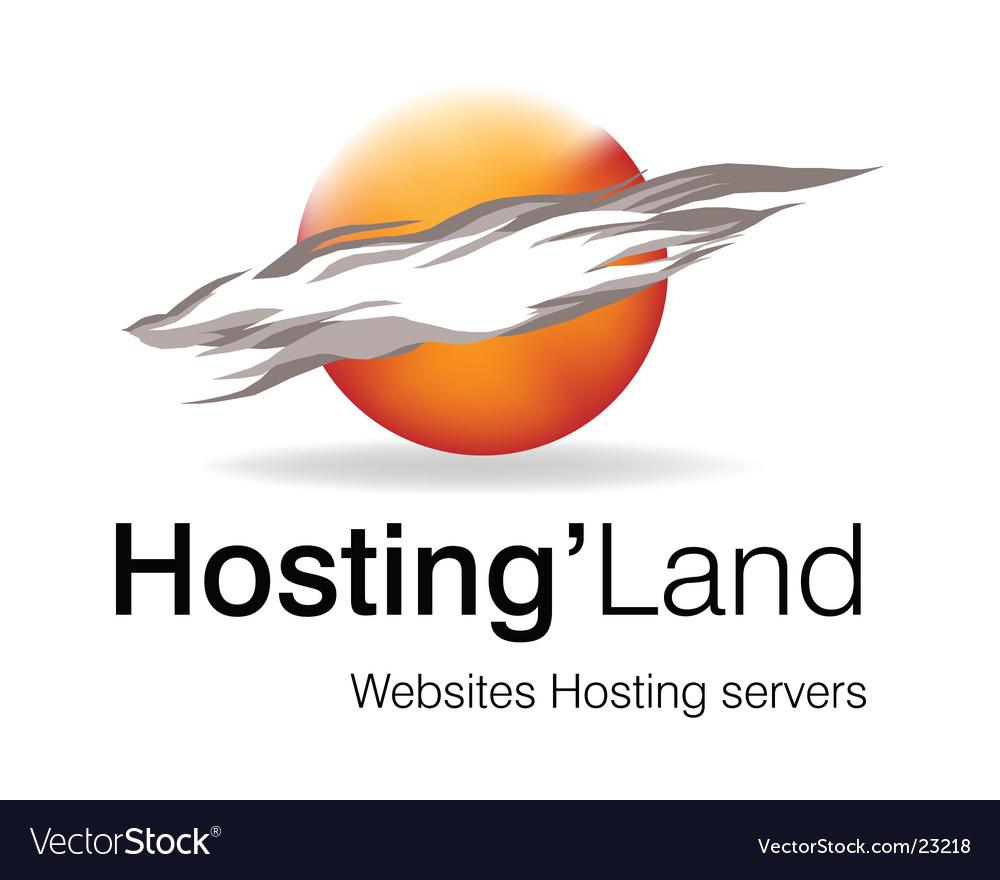 Hosting land logo vector