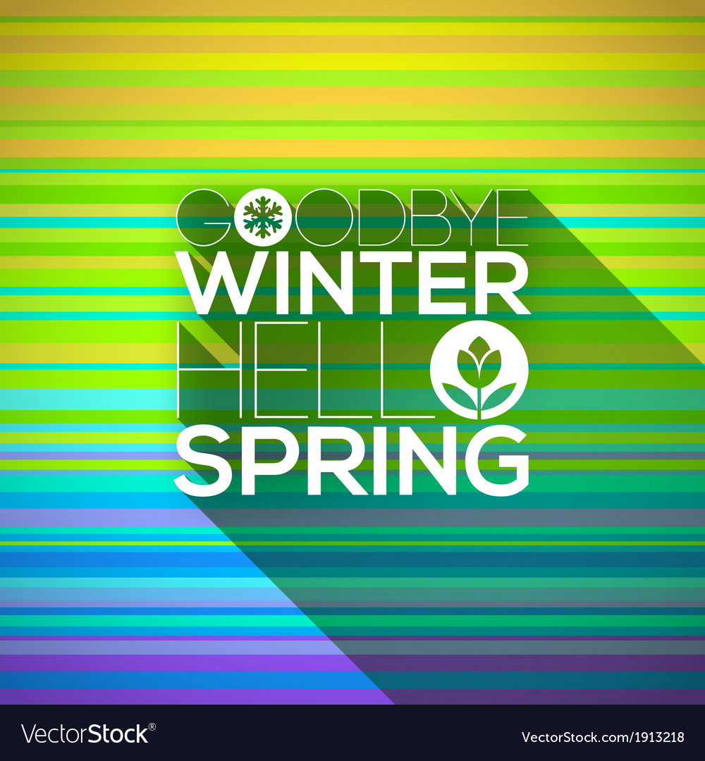 Spring greeting design vector