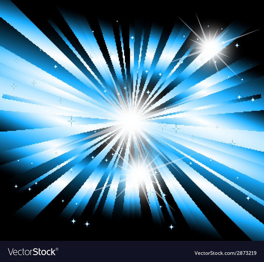 Star ray with lens flare vector
