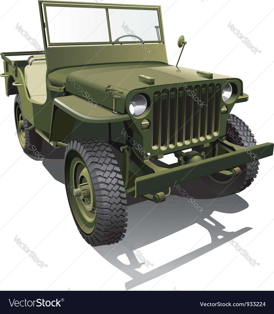 Army jeep vector