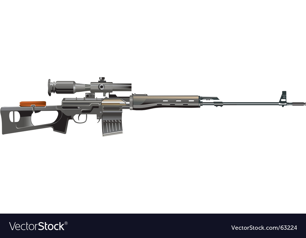 Snipper rifle vector