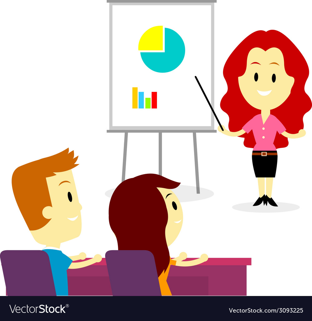 Business training and development program vector