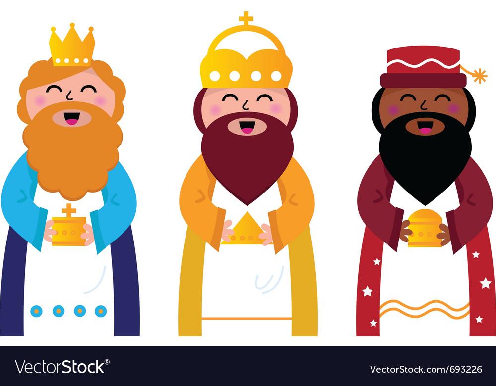 Three wise men vector