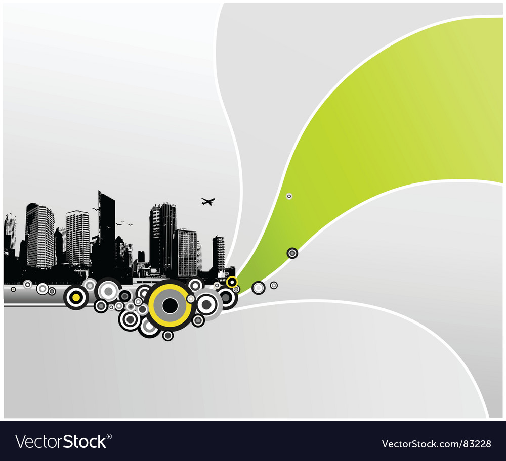City with abstract background vector