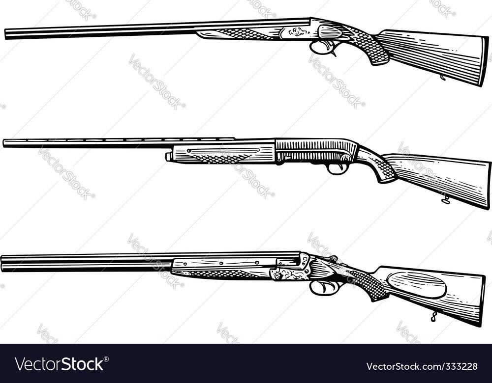 Hunters gun vector