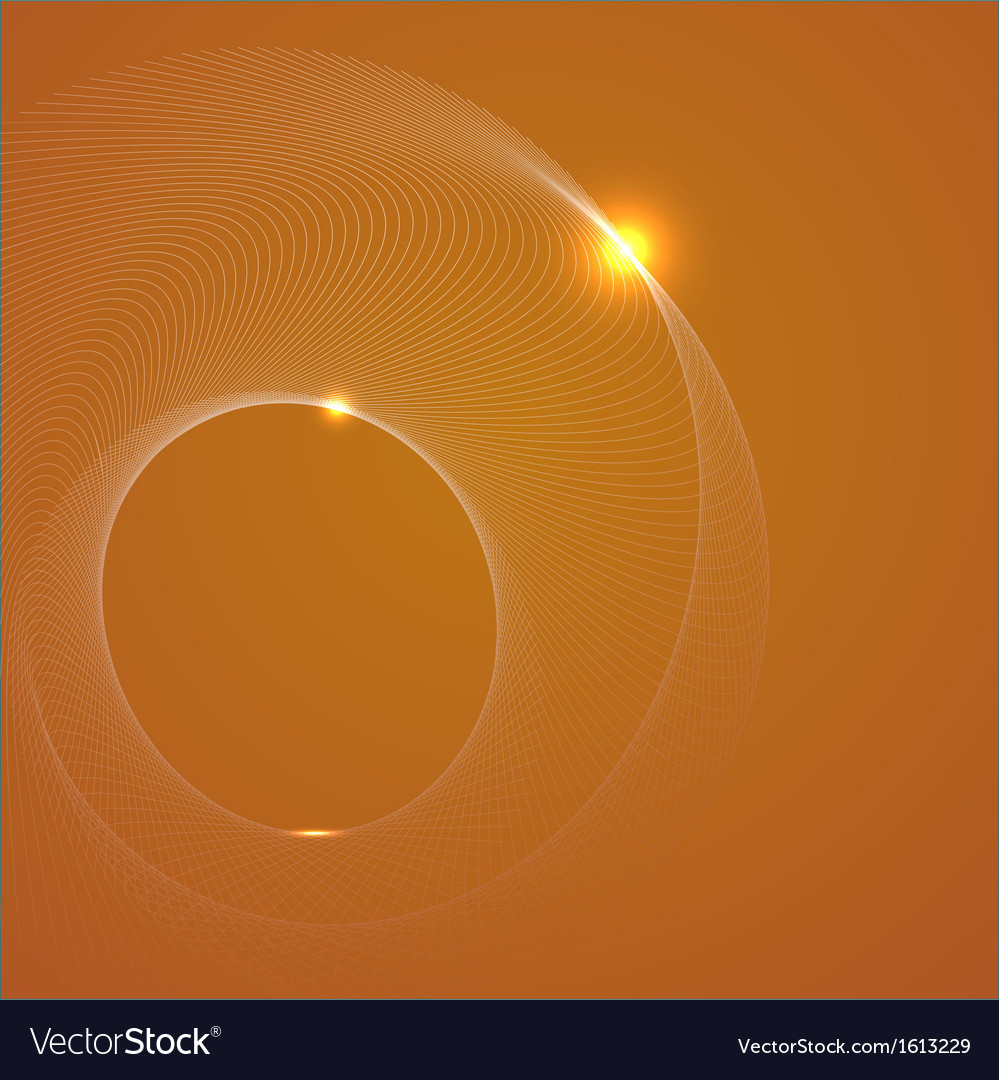 Abstract yellow background with a spiral vector