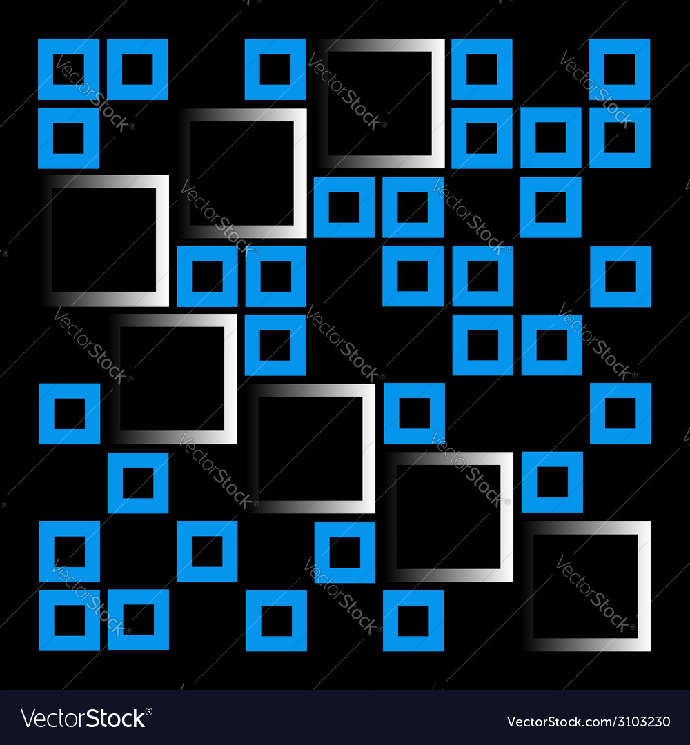 Abstract composition with squares vector