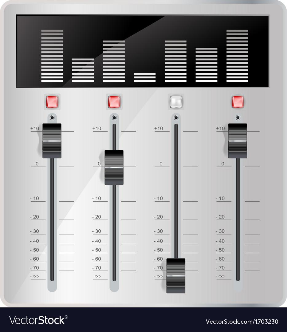 Audio mixing panel vector