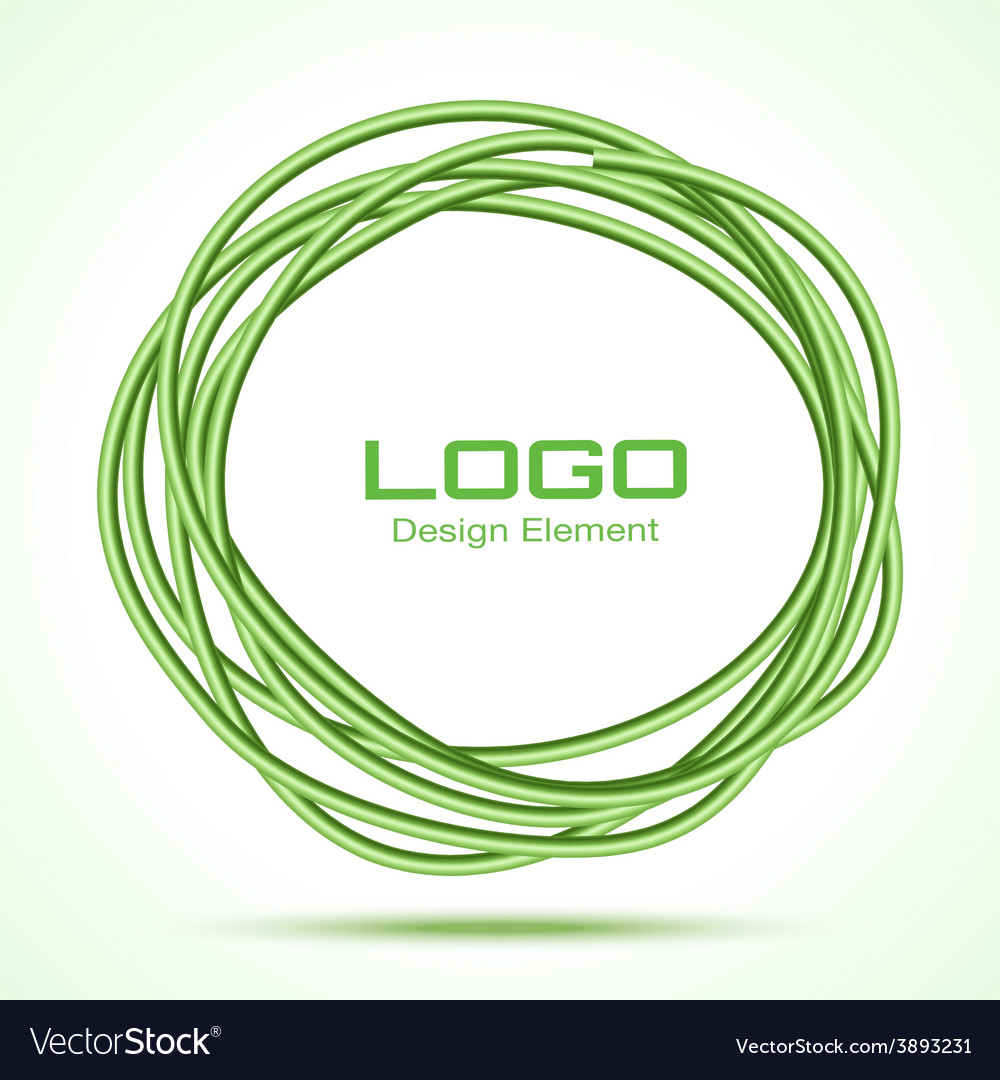 Green hand drawn ware circle vector