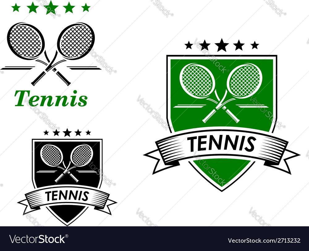 Tennis sporting emblems vector