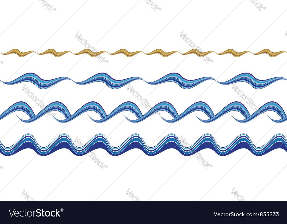 Seamless wavy borders vector