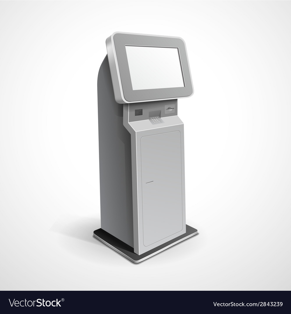Information display monitor terminal stand vector