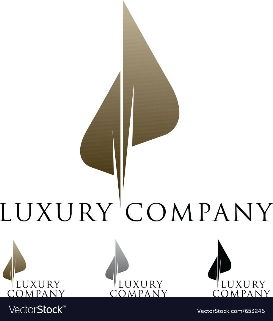 Luxury business emblem vector