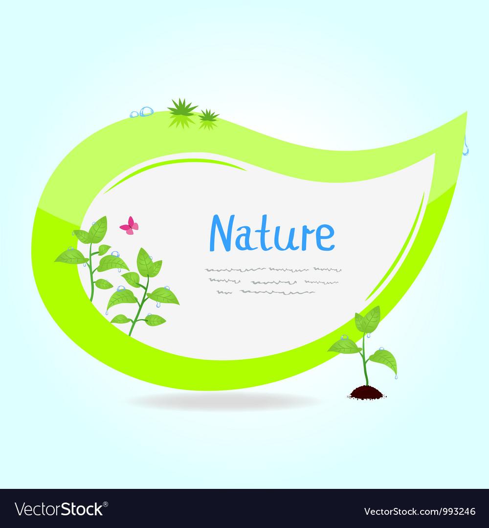 Sticker green vector