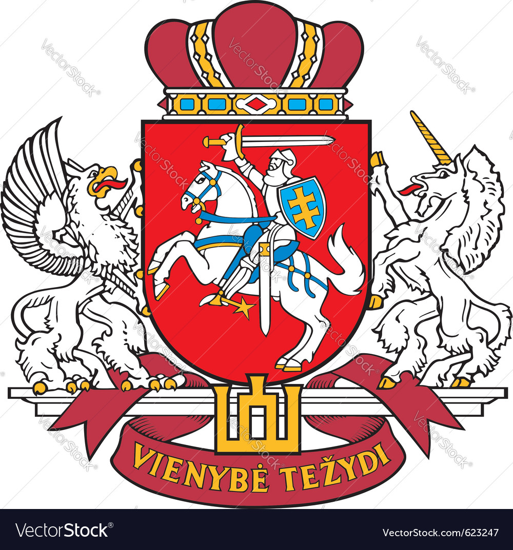 Image of coat of arms of lithuania vector