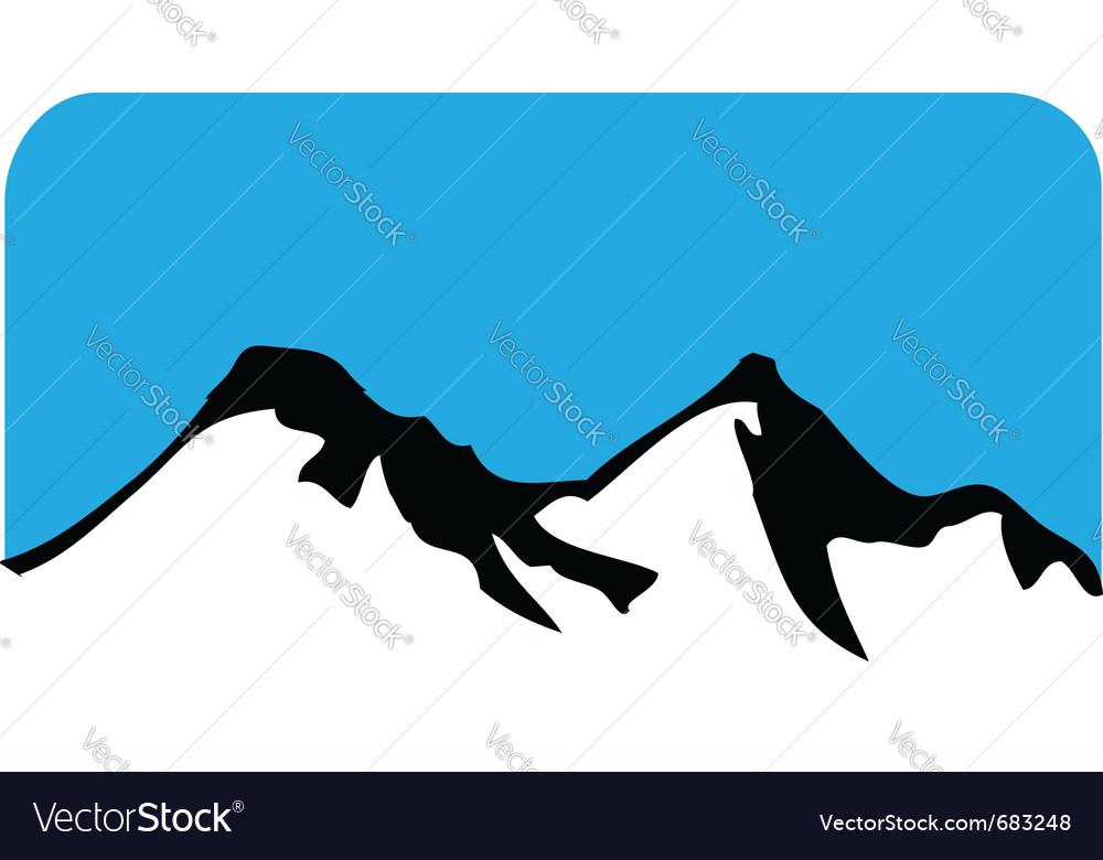Mountain symbol vector