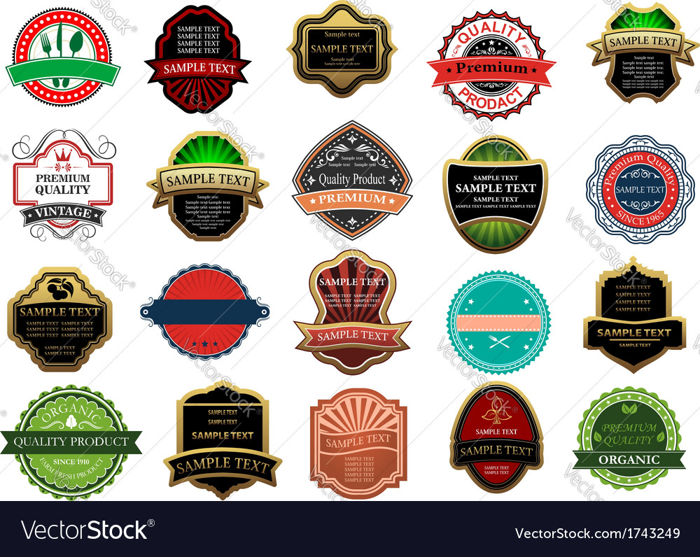 Banners and labels for retail design vector