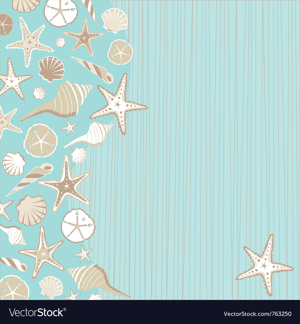 Seashell beach party vector