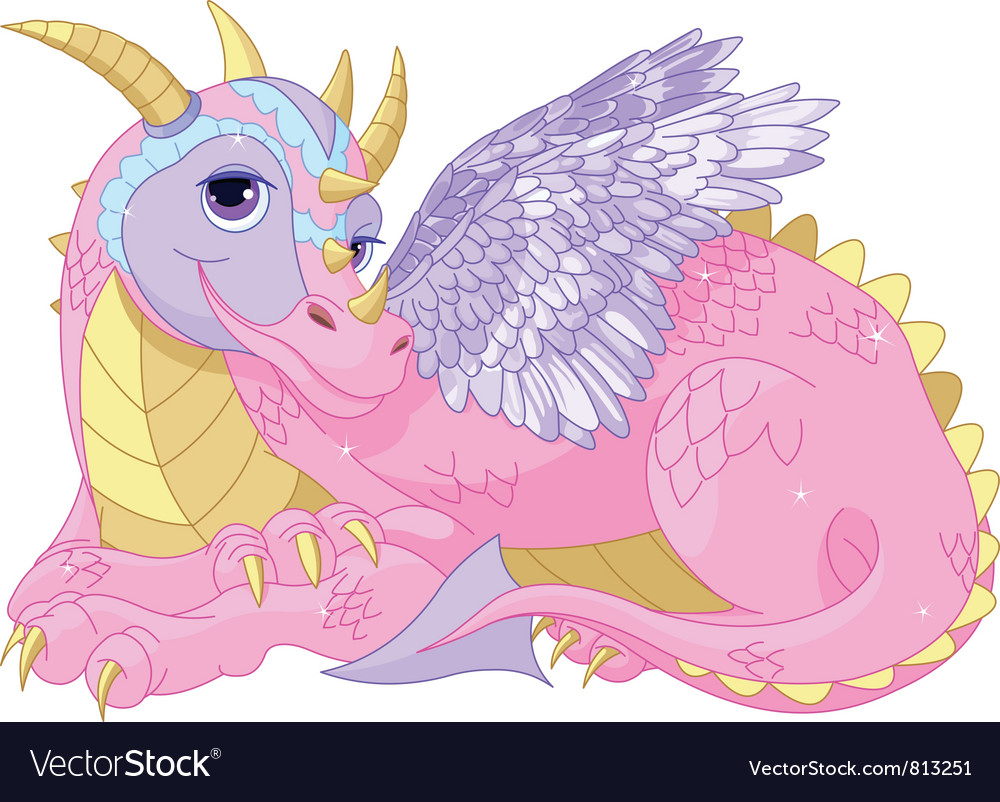 Lady dragon vector