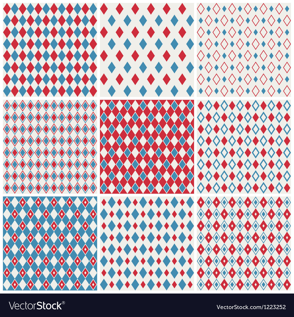 Harlequin patterns vector