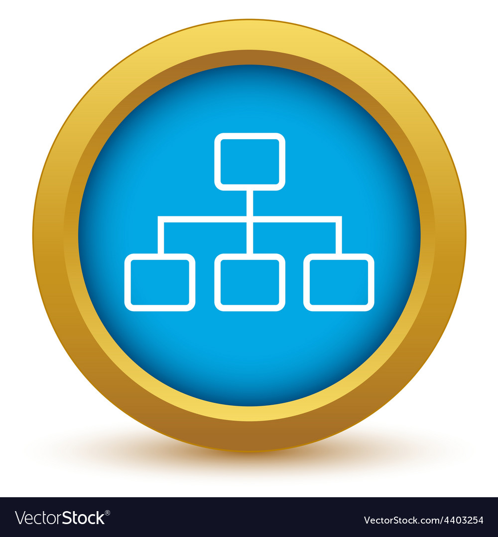 Gold structure icon vector