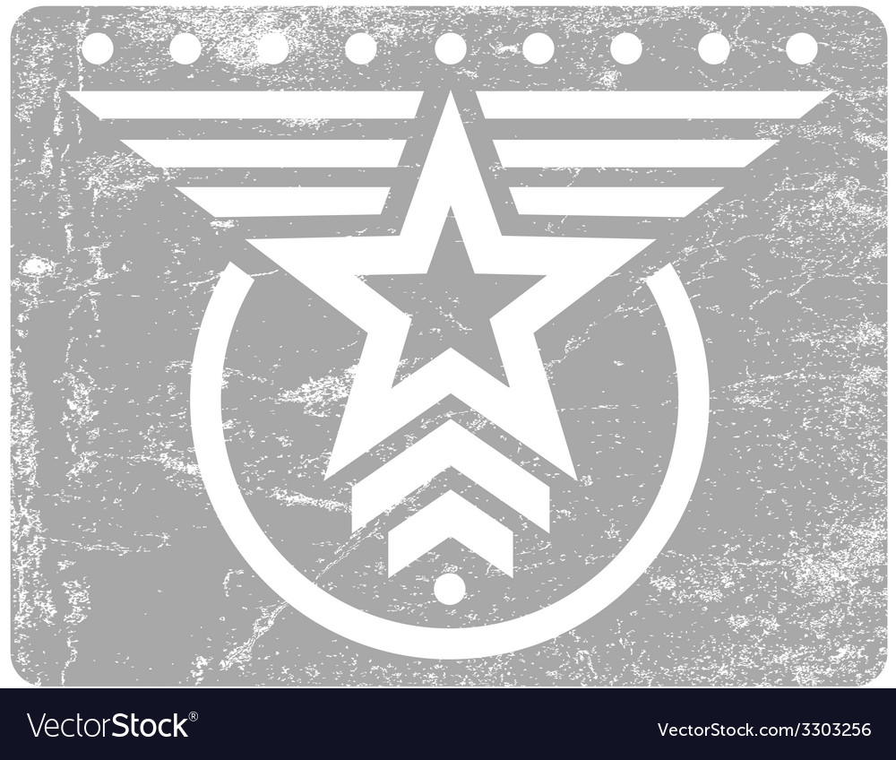 Military style grunge emblem vector