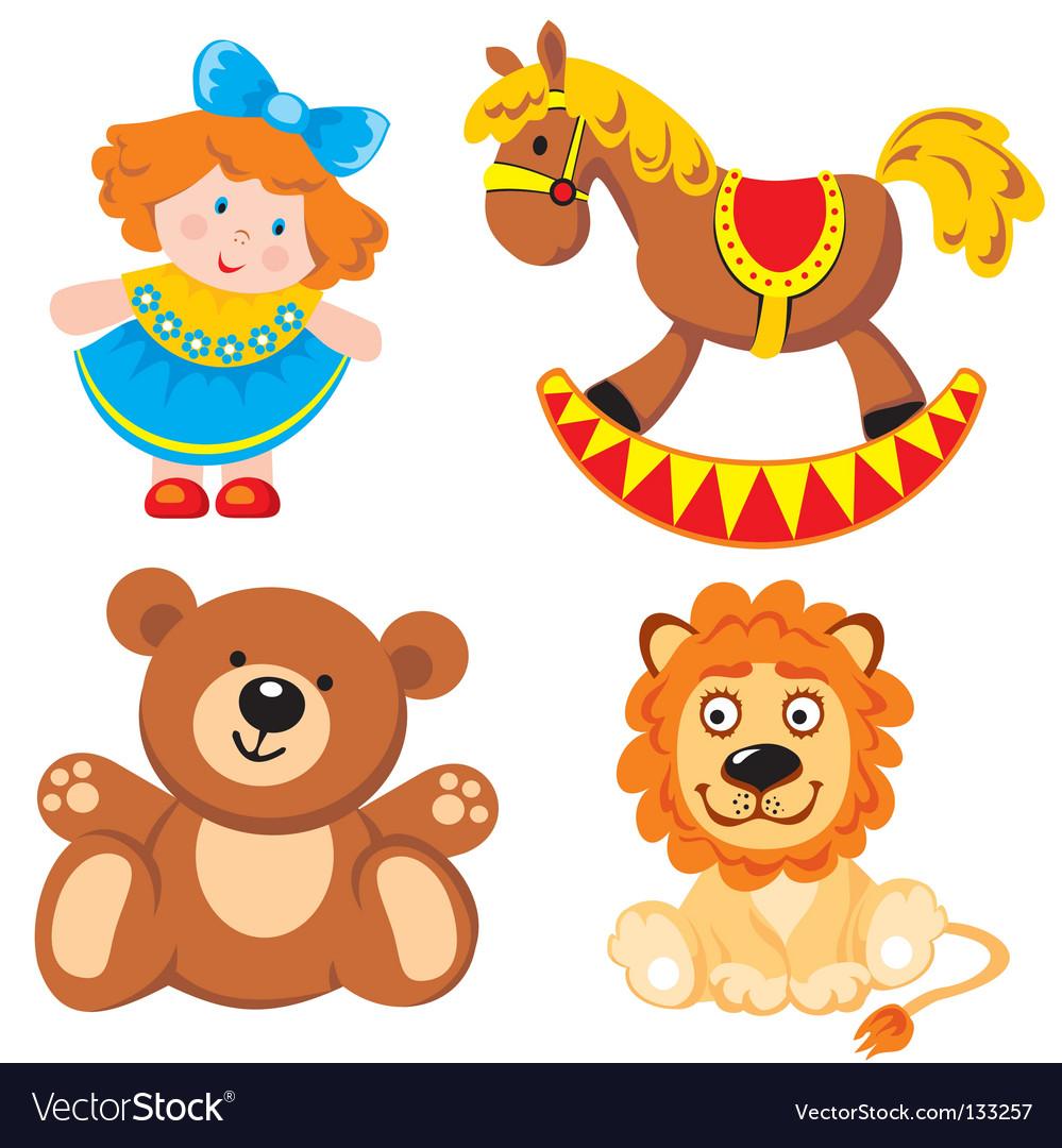 Children's toys vector
