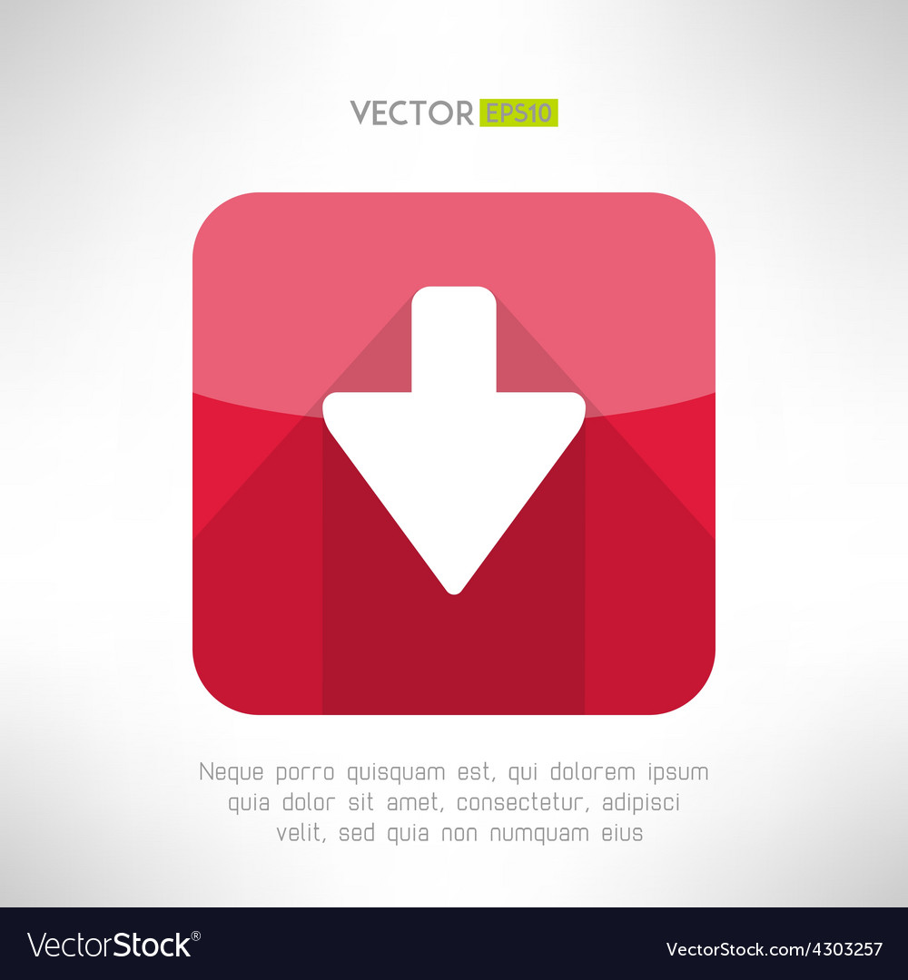 Download icon im modern flat design clean and vector