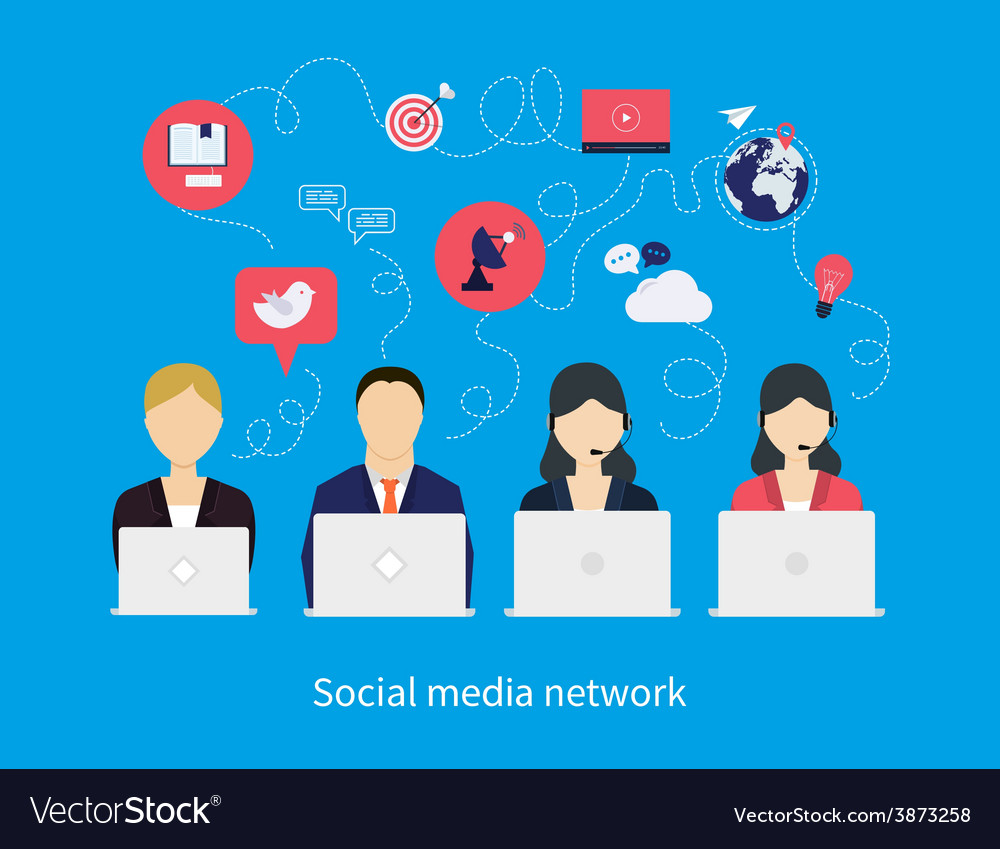 Concept of social media network vector