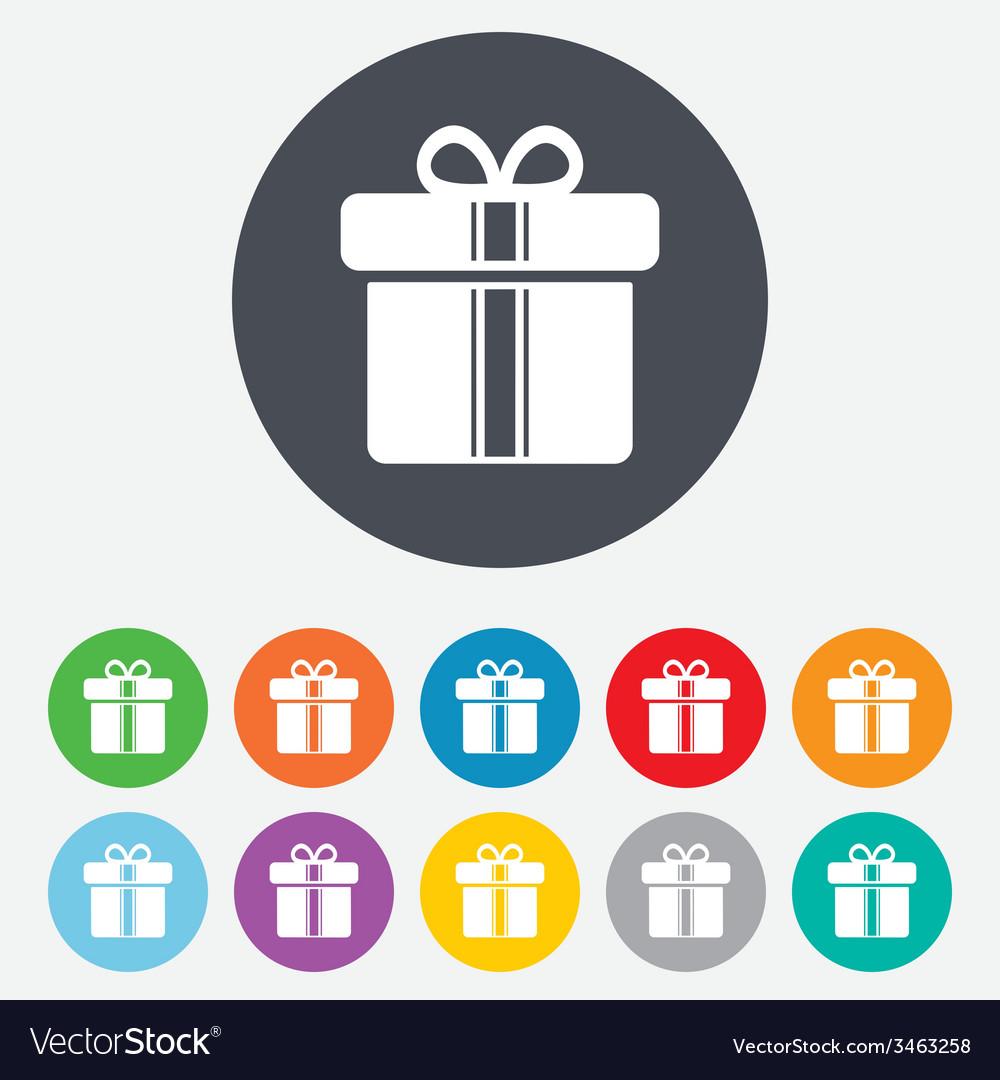 Gift box sign icon present symbol vector