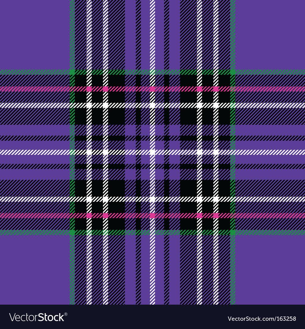 Purple tartan vector