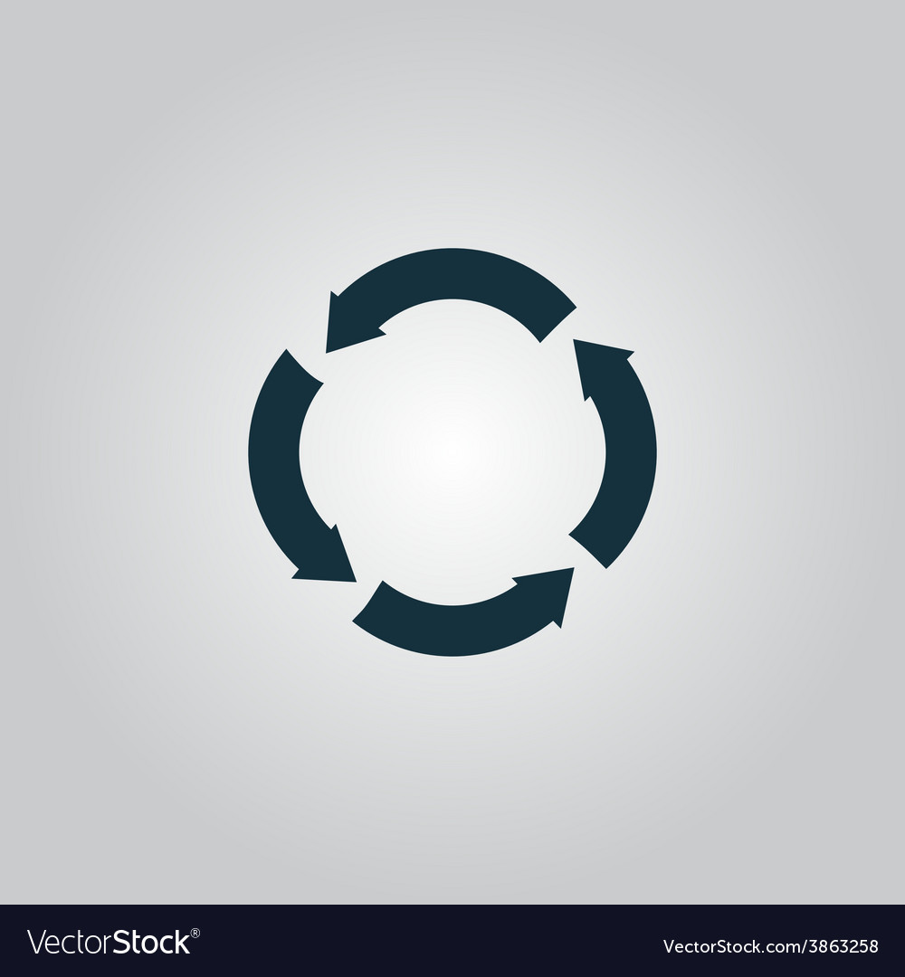 Recycle arrow on isolated background vector