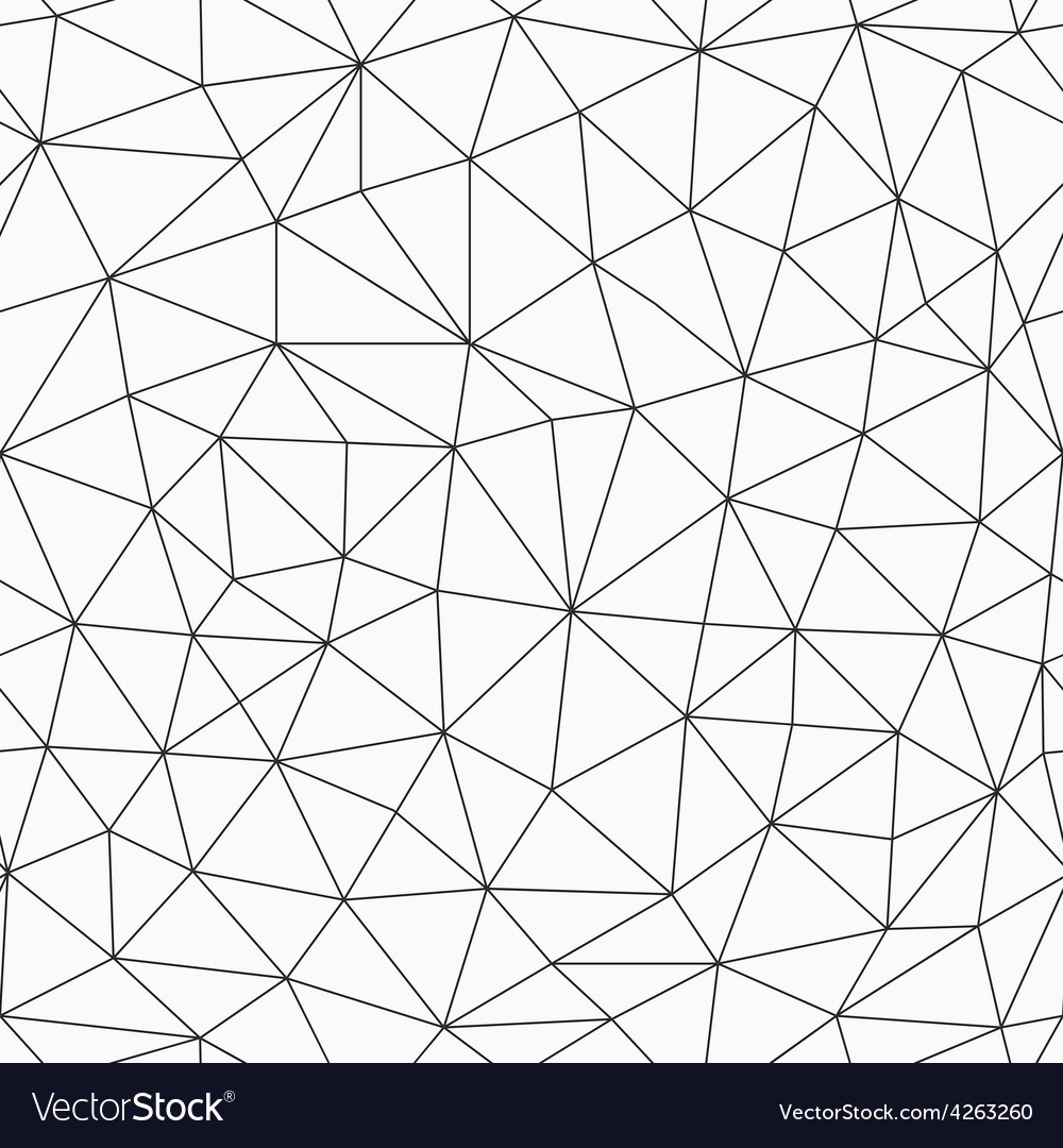 Monochrome contour triangles seamless pattern vector