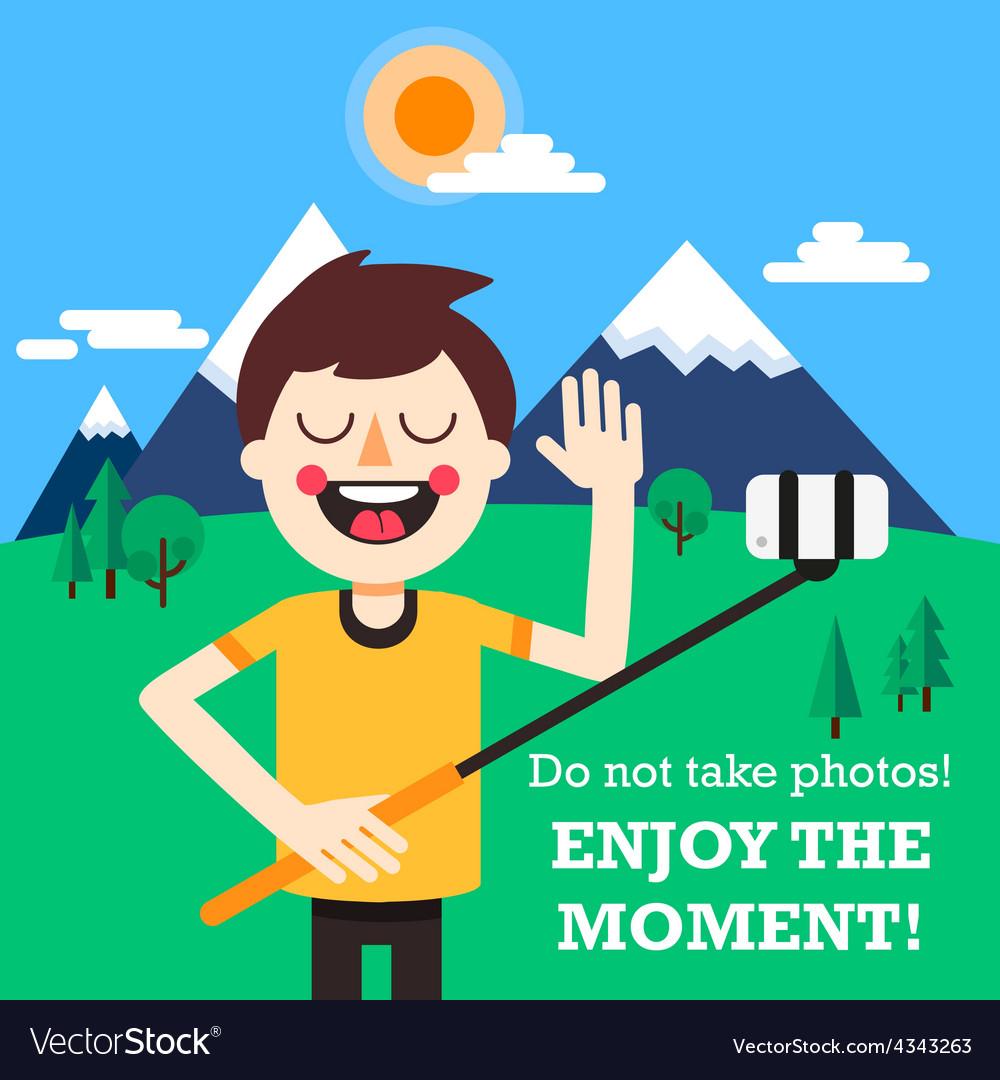 Enjoy the moment vector