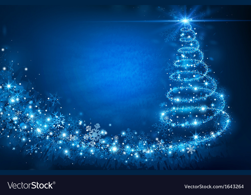 Magic christmas tree vector