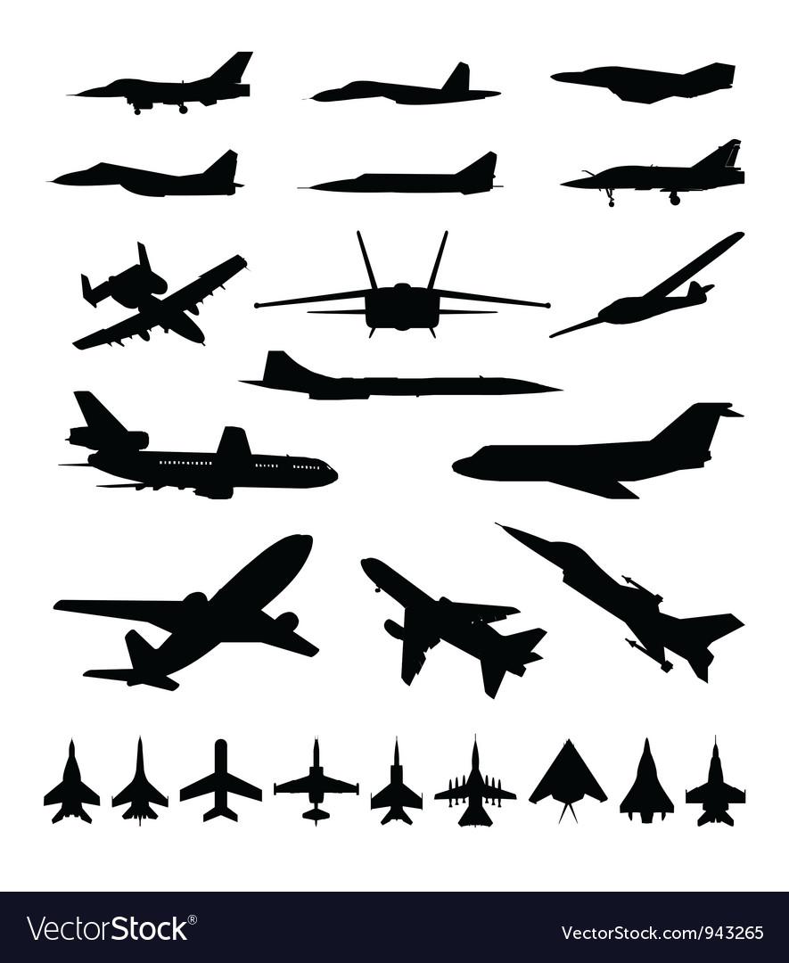 Symbols of planes vector