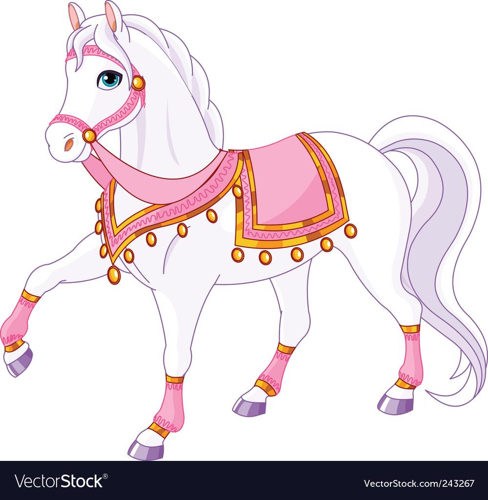 Royal horse vector