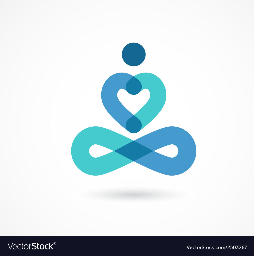 Yoga icon element and symbol vector