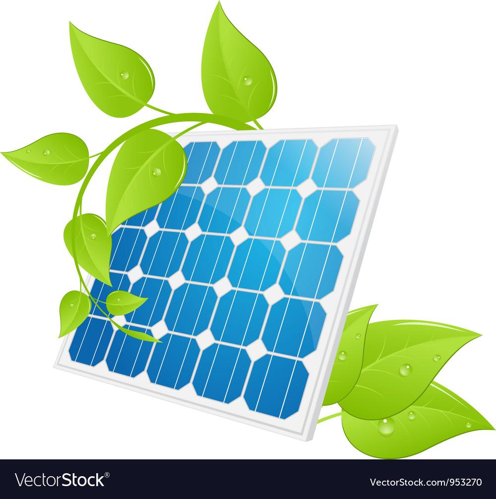 Solar cell leaves vector