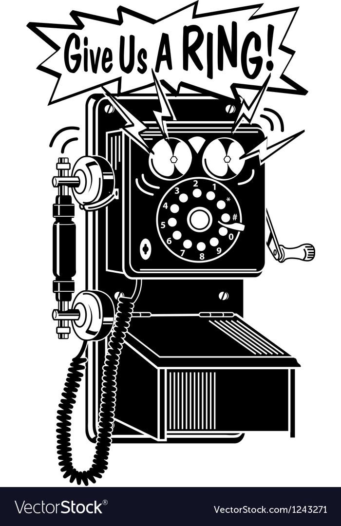 Telephone retro vector