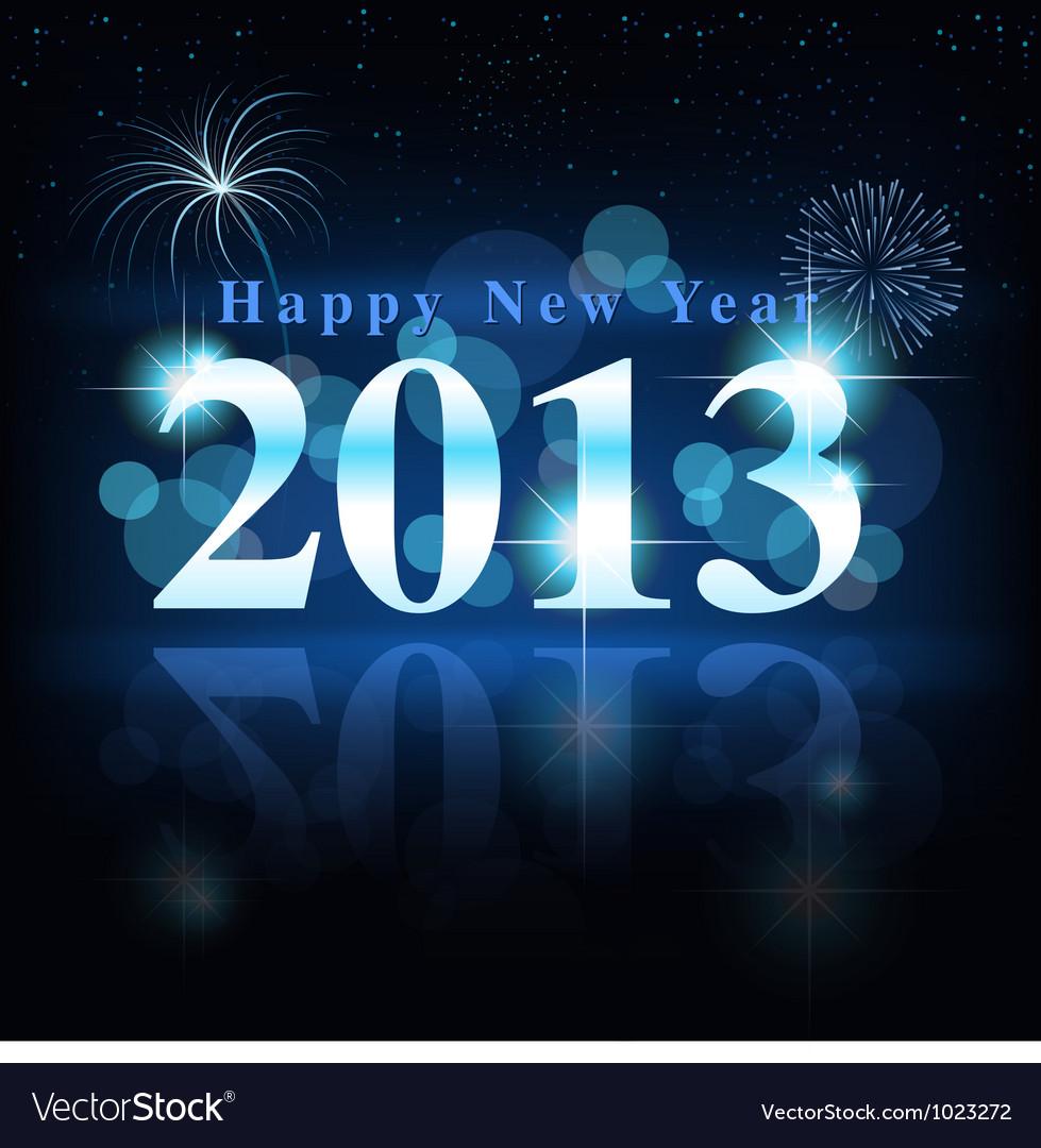 Happy new year vector