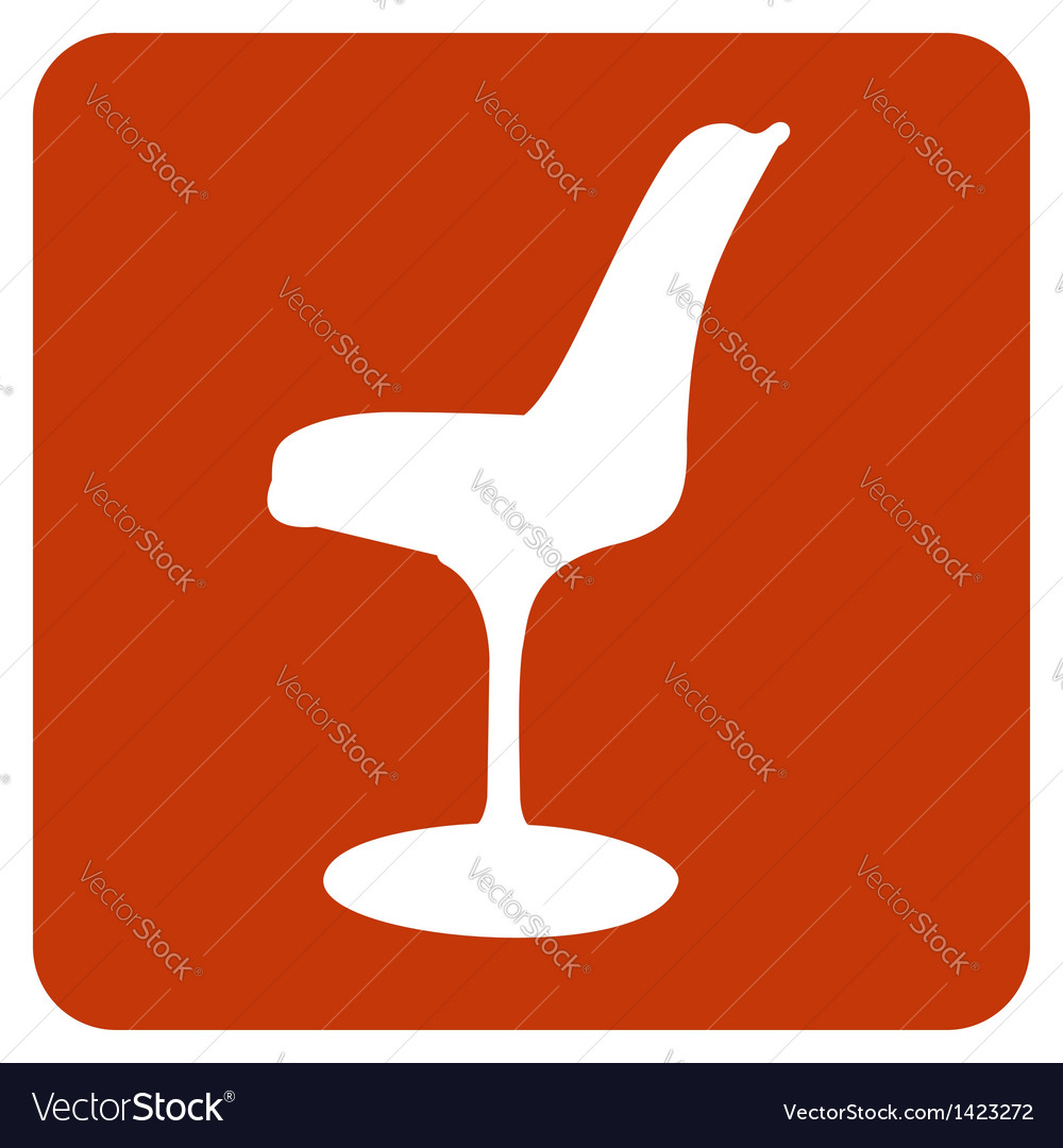 Objects collection tulip chair vector