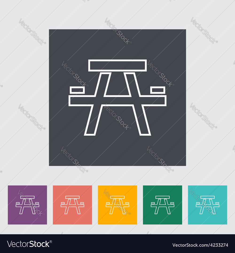Camping table vector