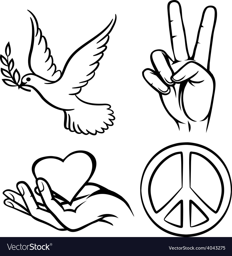 Peace symbols vector