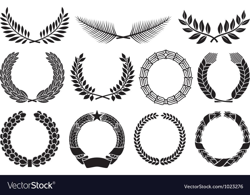 Laurel wreath collection vector
