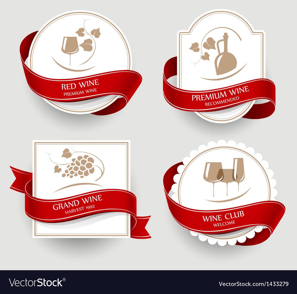 Labels set for wine vector
