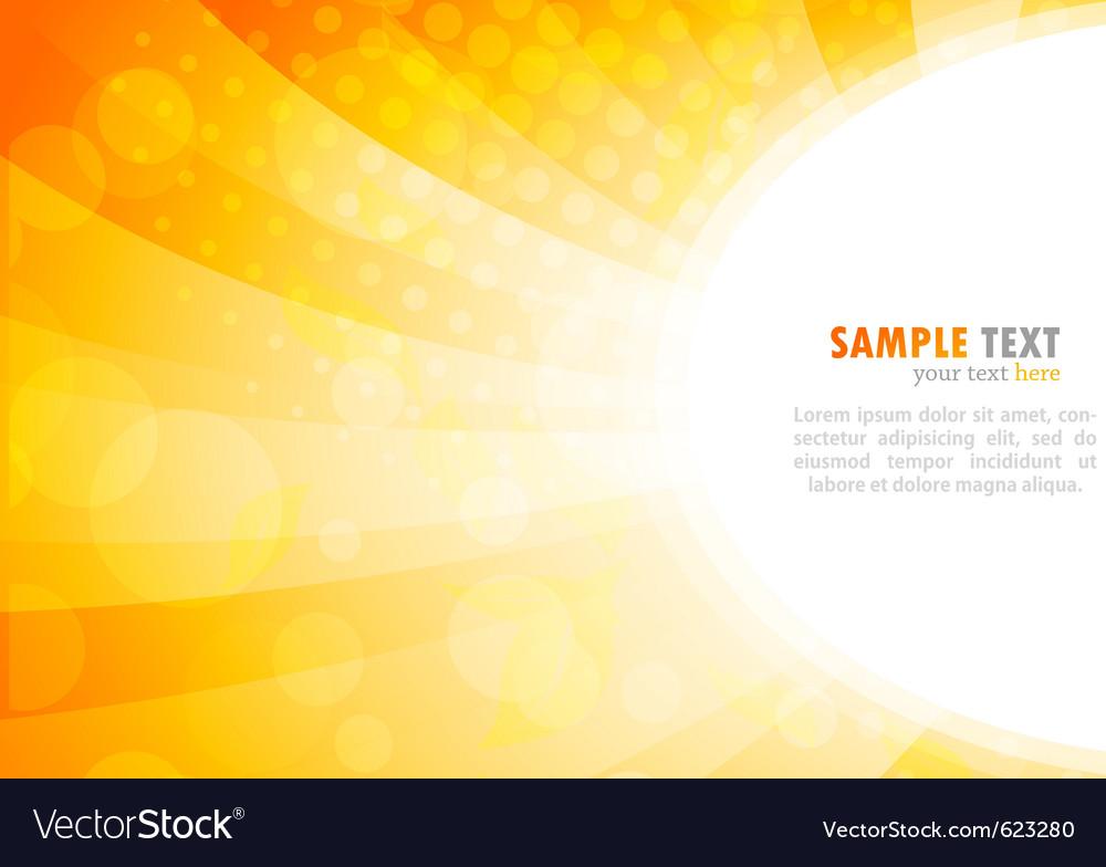 Bright background in orange color vector